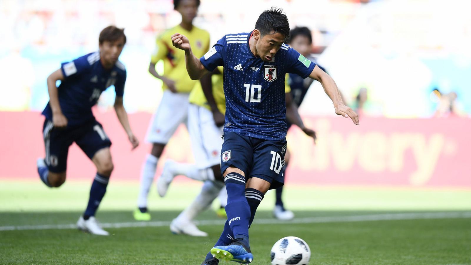 Shinji Kagawa va marcar el primer gol del Japó en transformar un llançament de penal.