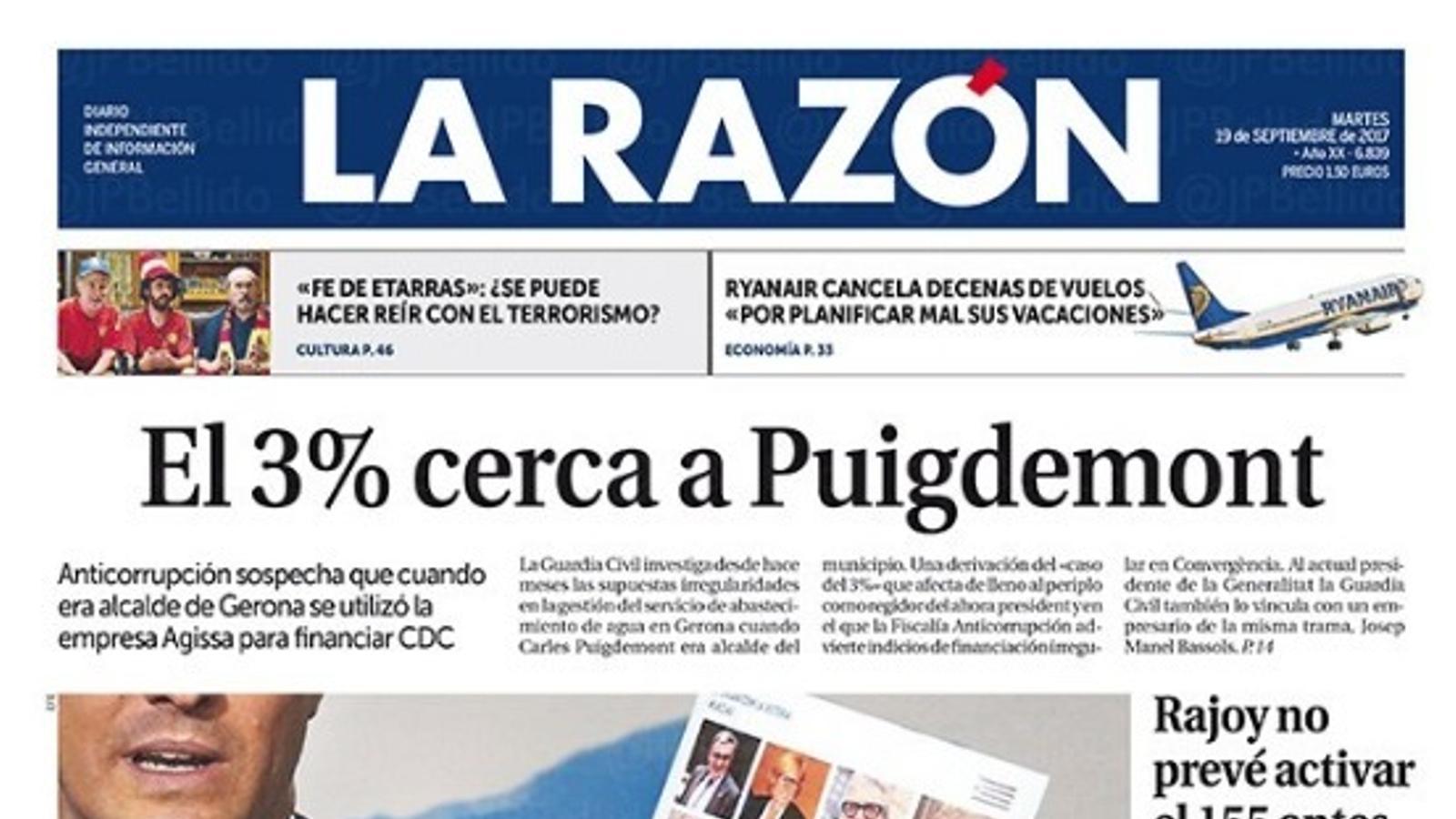 'La Razón' regala 36.000 milions a la República Catalana
