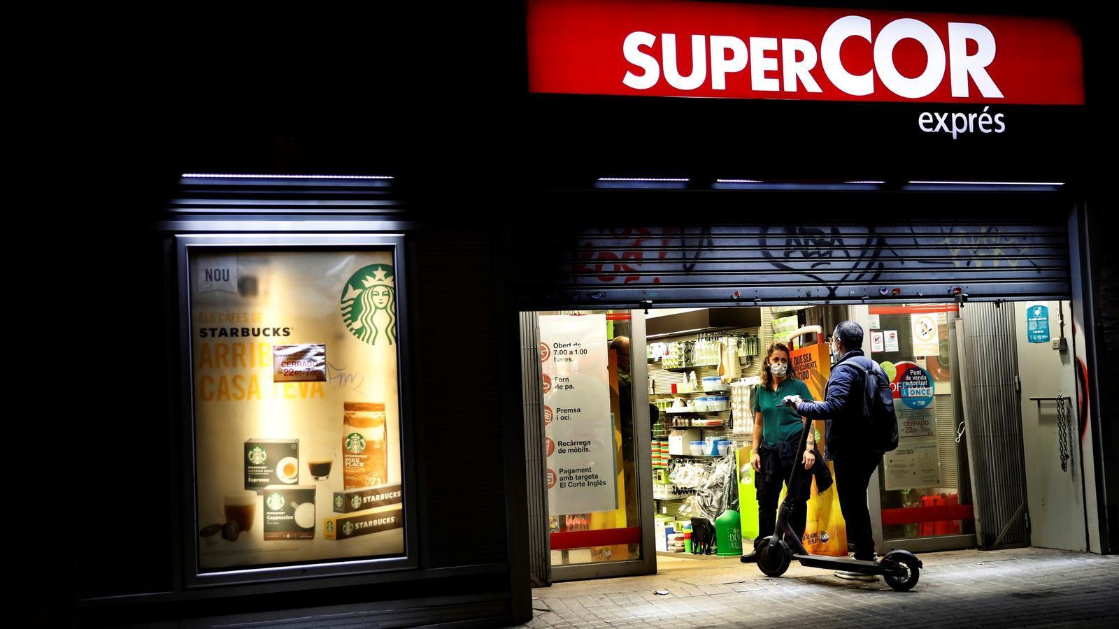 Un comerç tancant a Barcelona