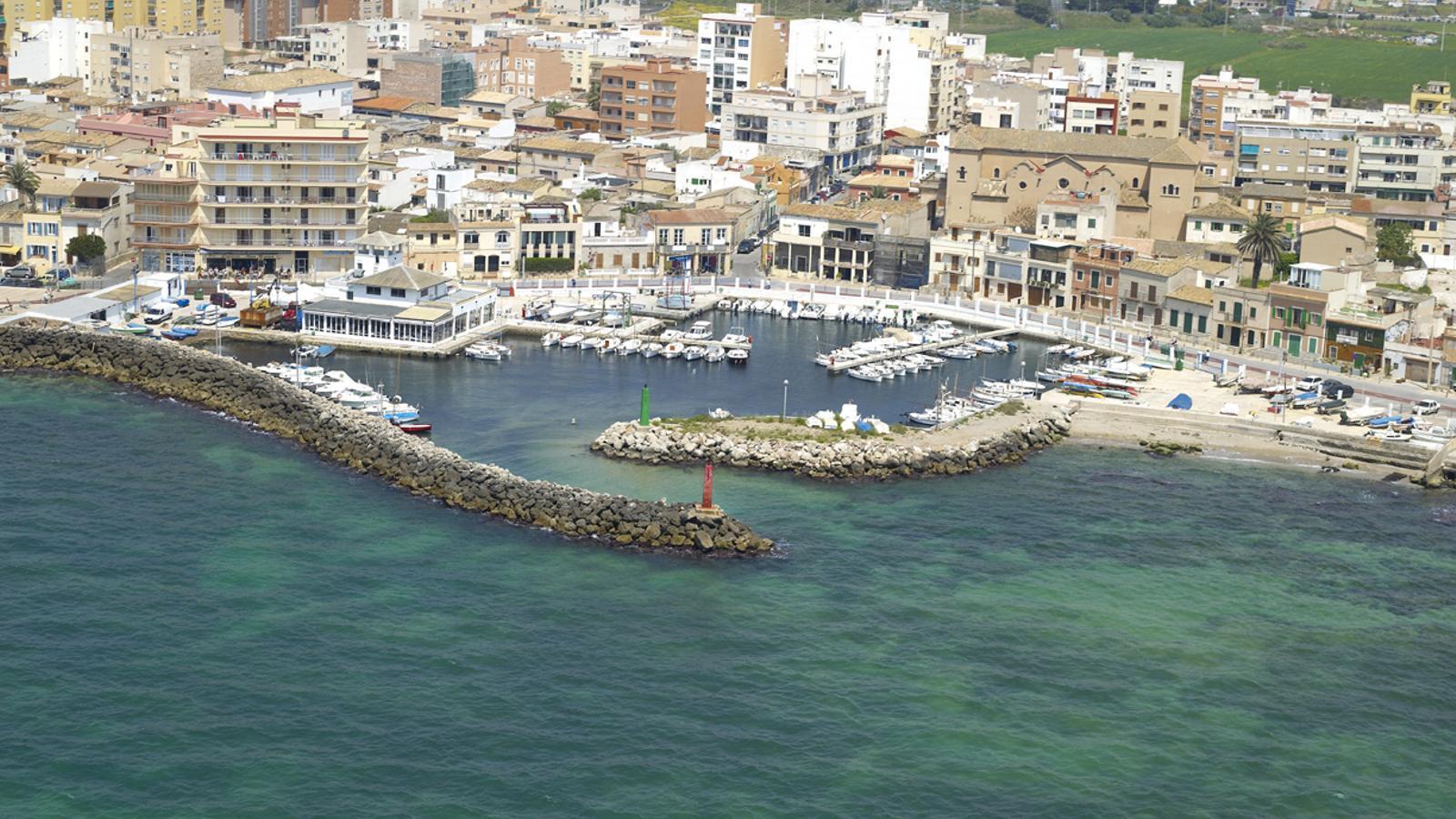 Vista aèria del barri del Molinar, a Palma.
