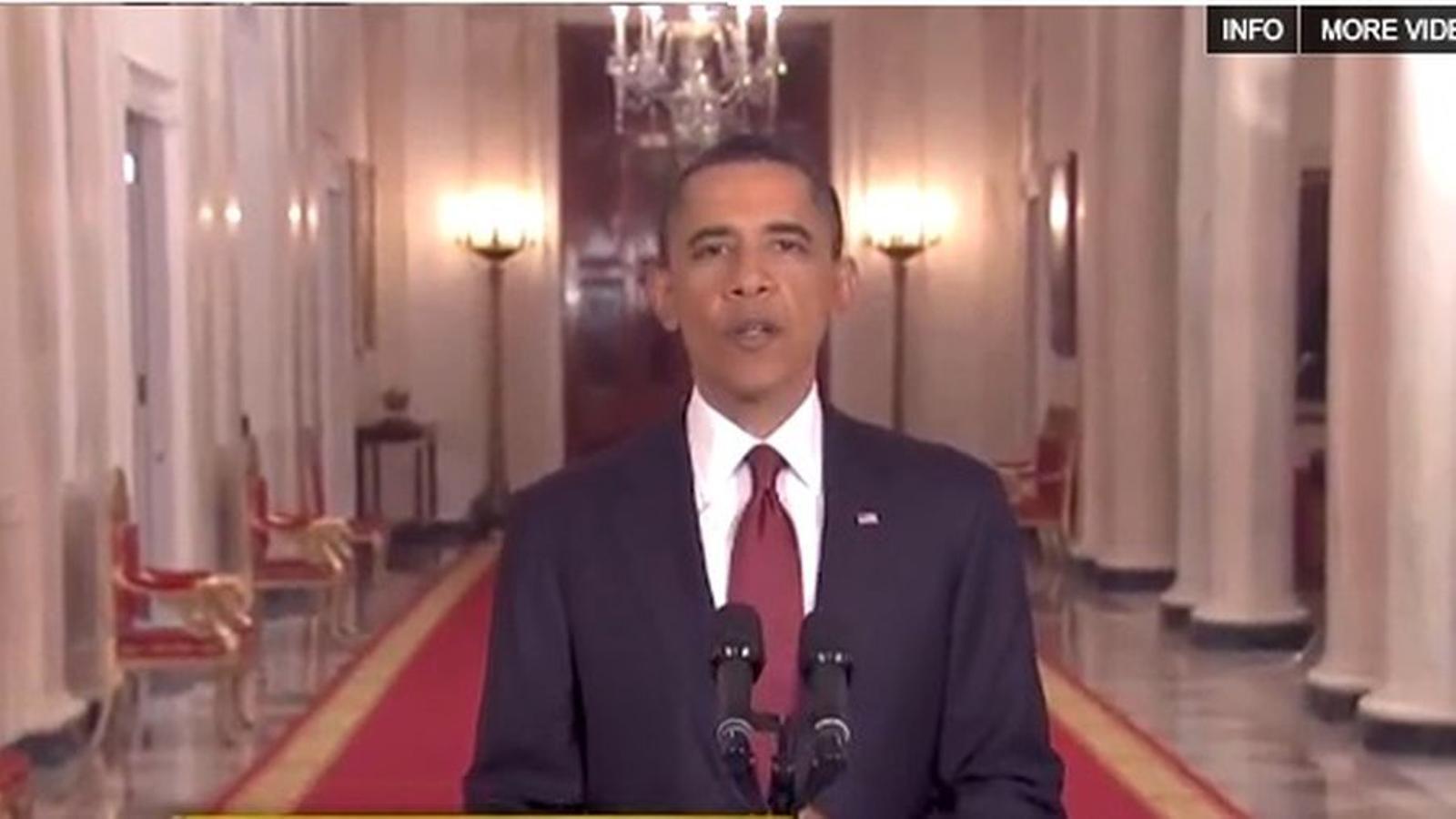 Obama anuncia la mort de Bin Laden