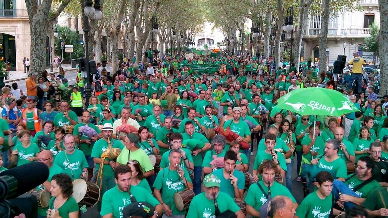 Manifestació contra el decret de trilingüisme a Palma / ACN