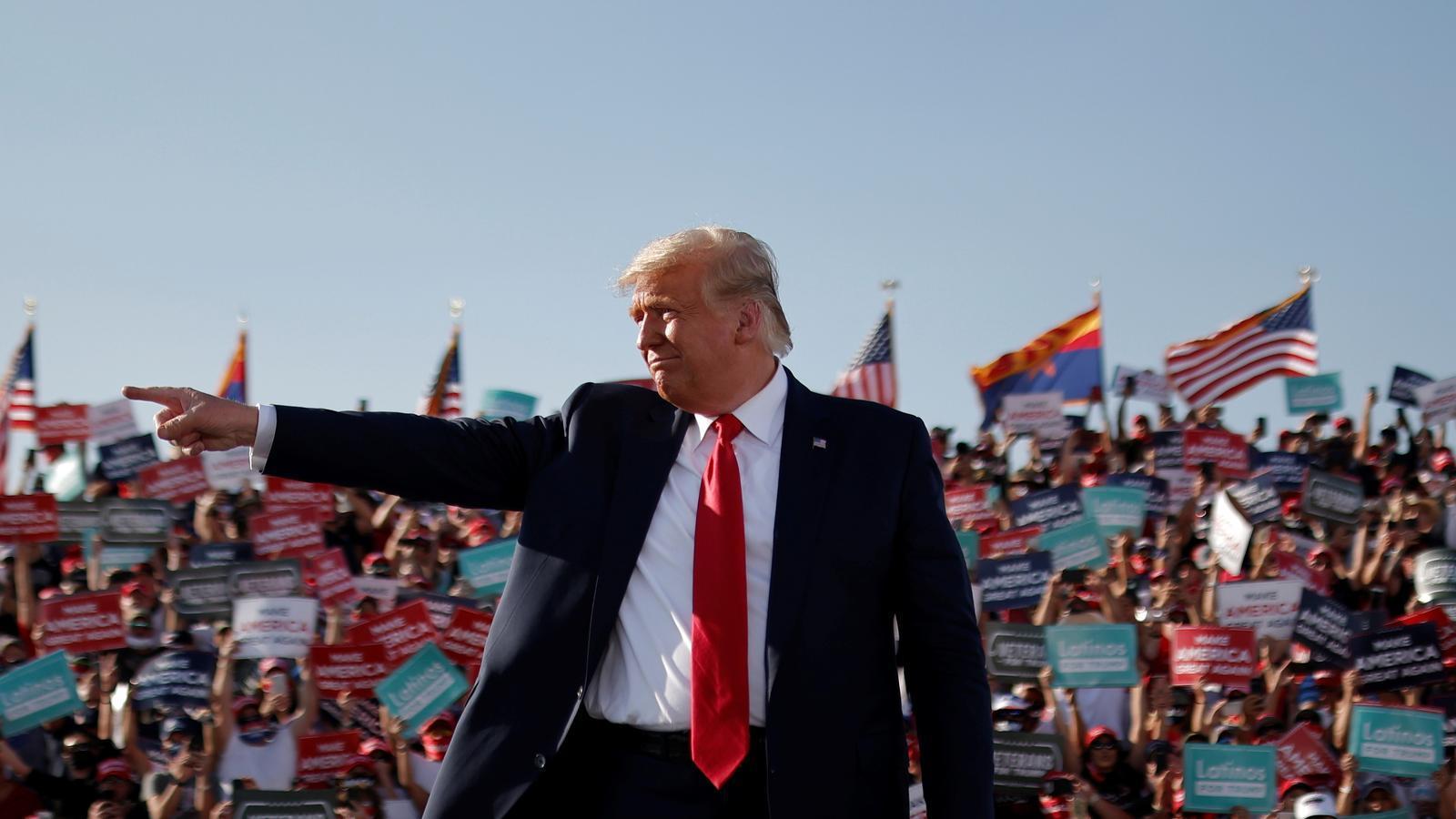 Doinald Trrump en un mitin a Arizona, el 19 d'octubre de 20202.