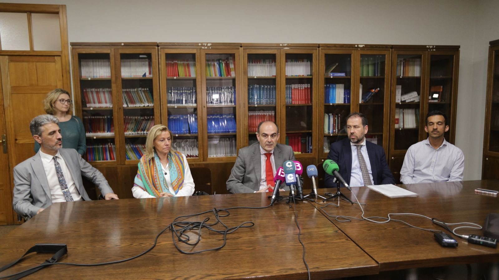 José Díaz Cappa,  Francisca Ramis, Jaime Tártalo, Víctor Fernández i Eduardo Navarro