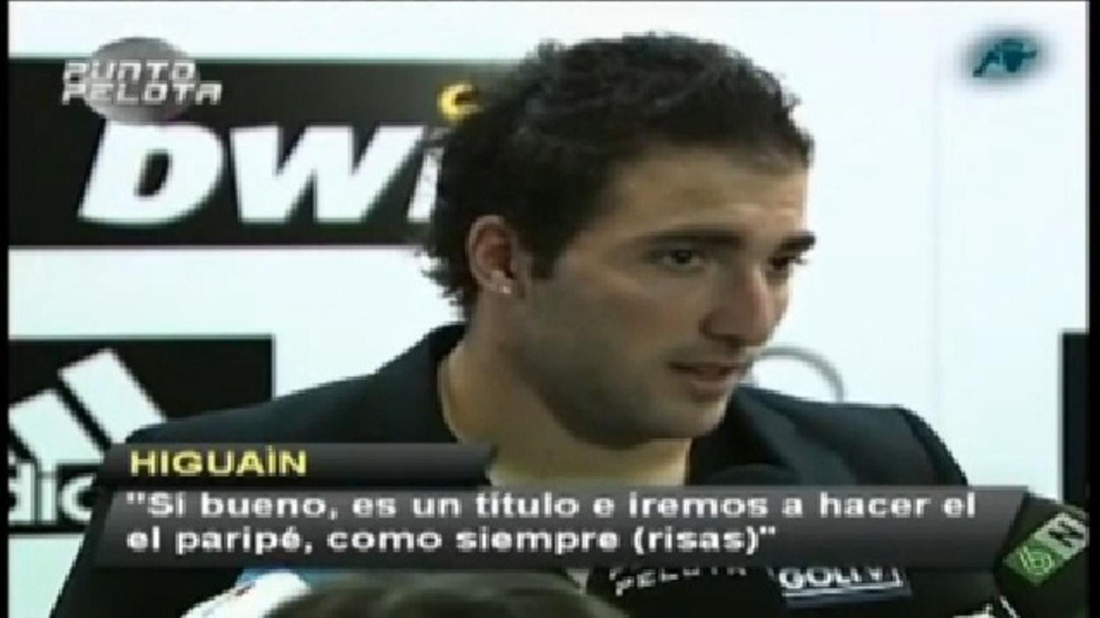 Higuaín qualifica de paripé la celebració de Copa del Rei