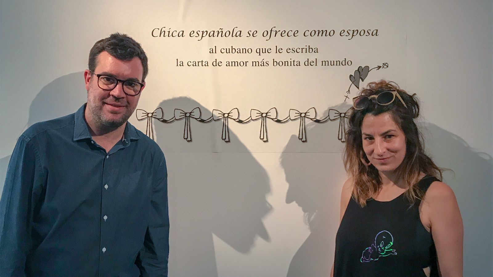 Antoni Noguera i Núria Güell durant la presentació de la mostra