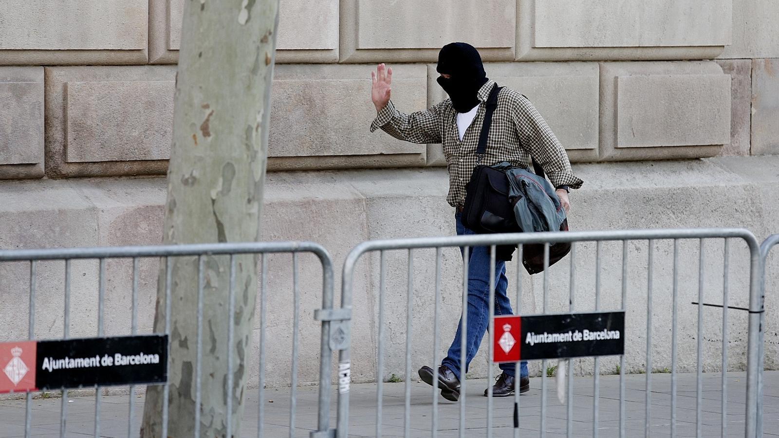 Joaquin Benitez arriba a l'Audiència de Barcelona