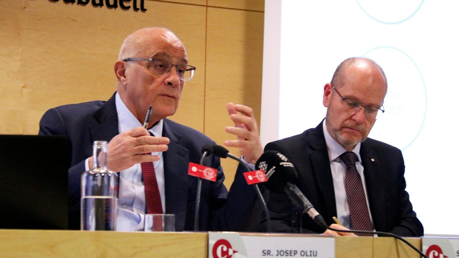 El president del Banc Sabadell, Joan Oliu.