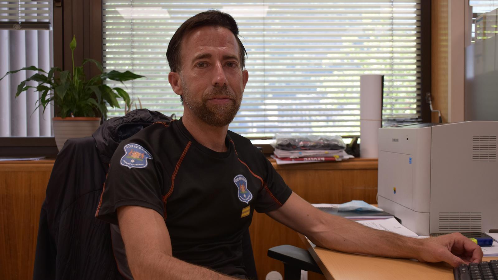 El director del Cos de Banders, Ferran Teixidó. / A. S. (ANA)