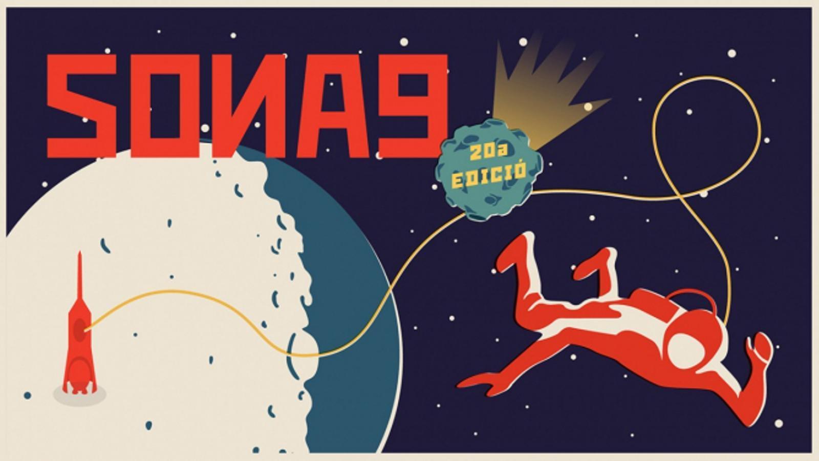 Cartell del Sona9, que compleix vint anys aquesta edició