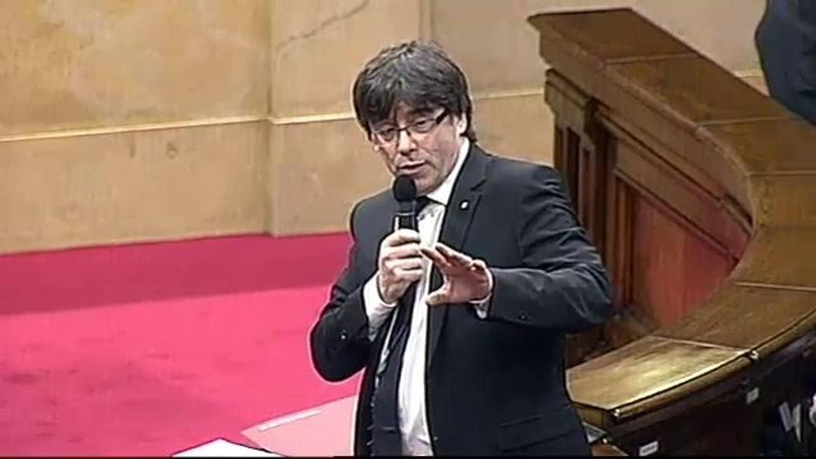 Puigdemont emula Gerard Piqué: Gràcies, Tribunal Constitucional, amb tu va començar tot