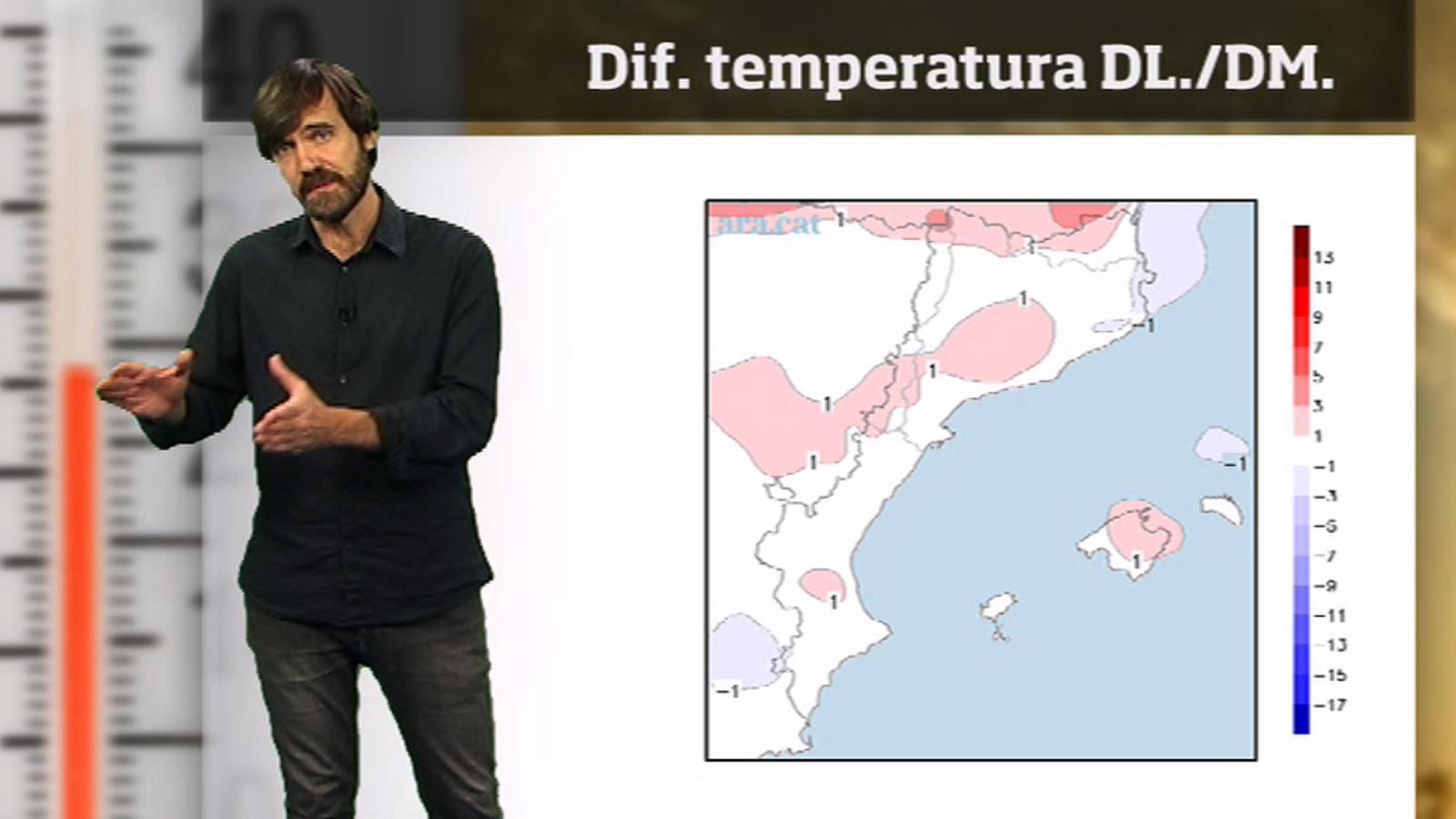 La méteo en 1 minut: migdies molt càlids però matins força freds