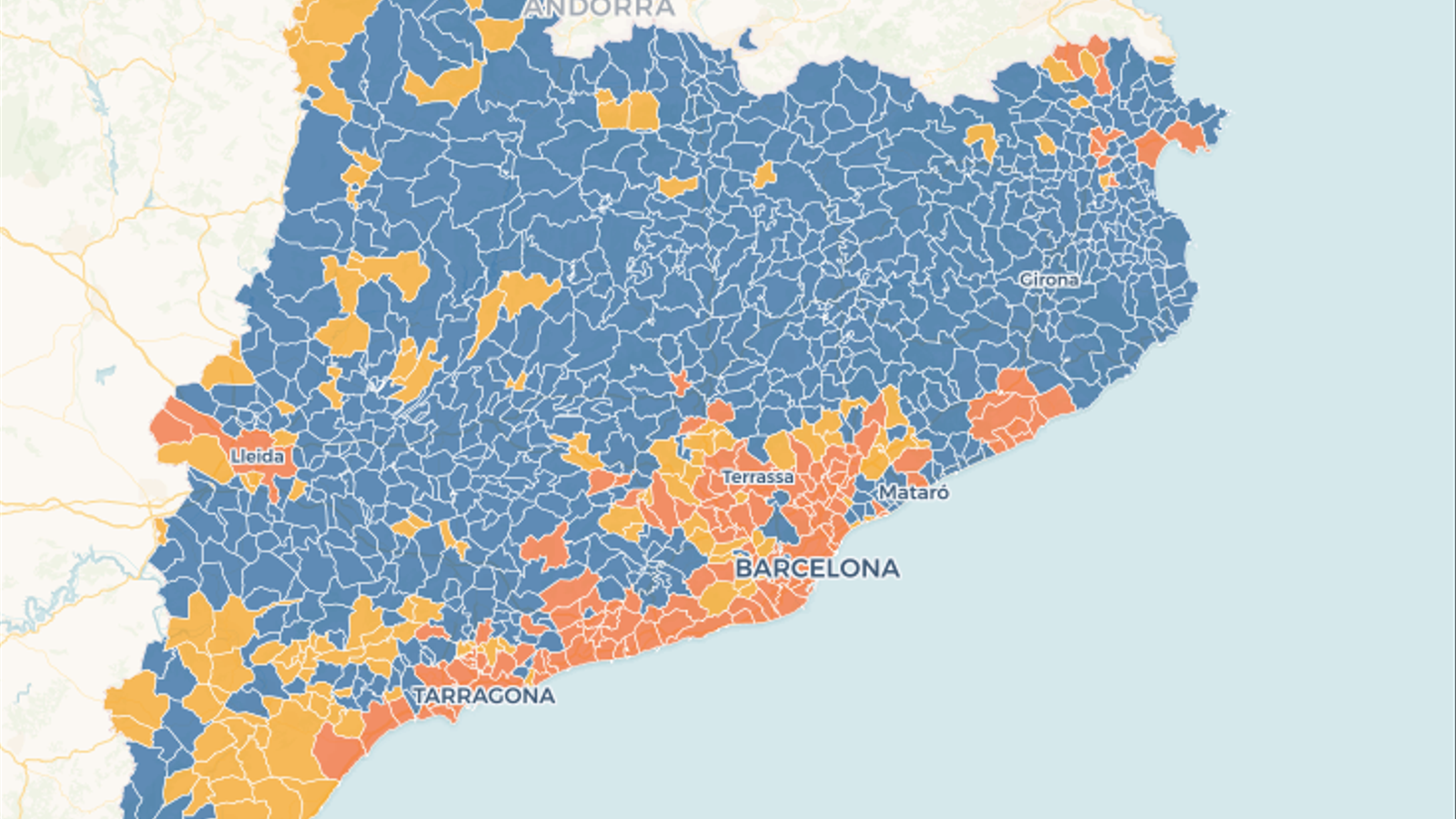 Consulta aquí tots els mapes interactius del 21-D