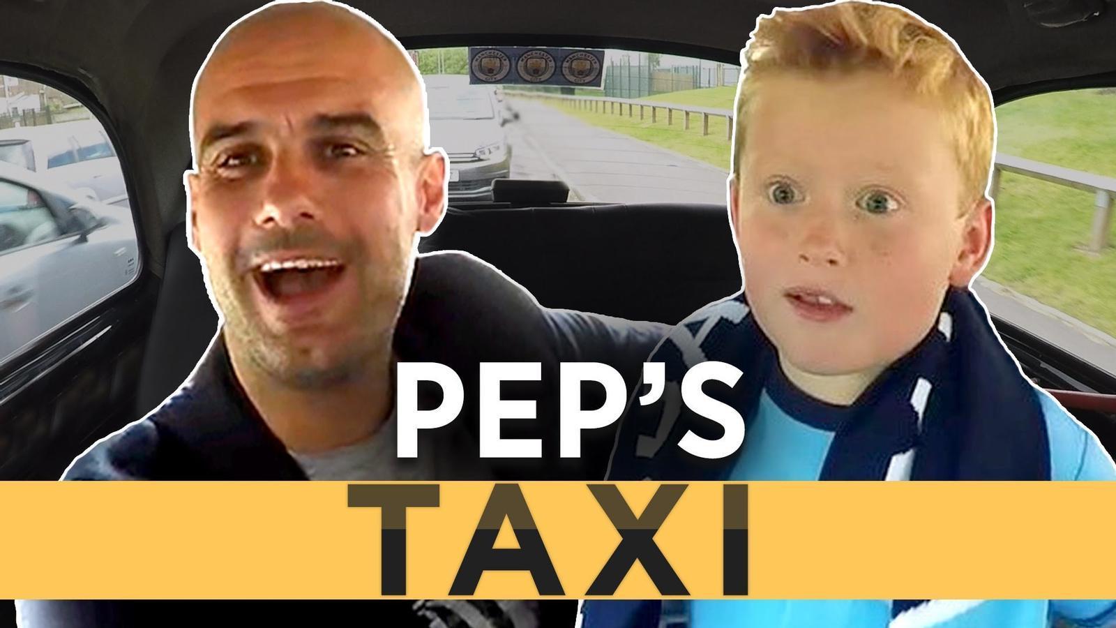 Guardiola i el seguidor del Manchester City de 7 anys