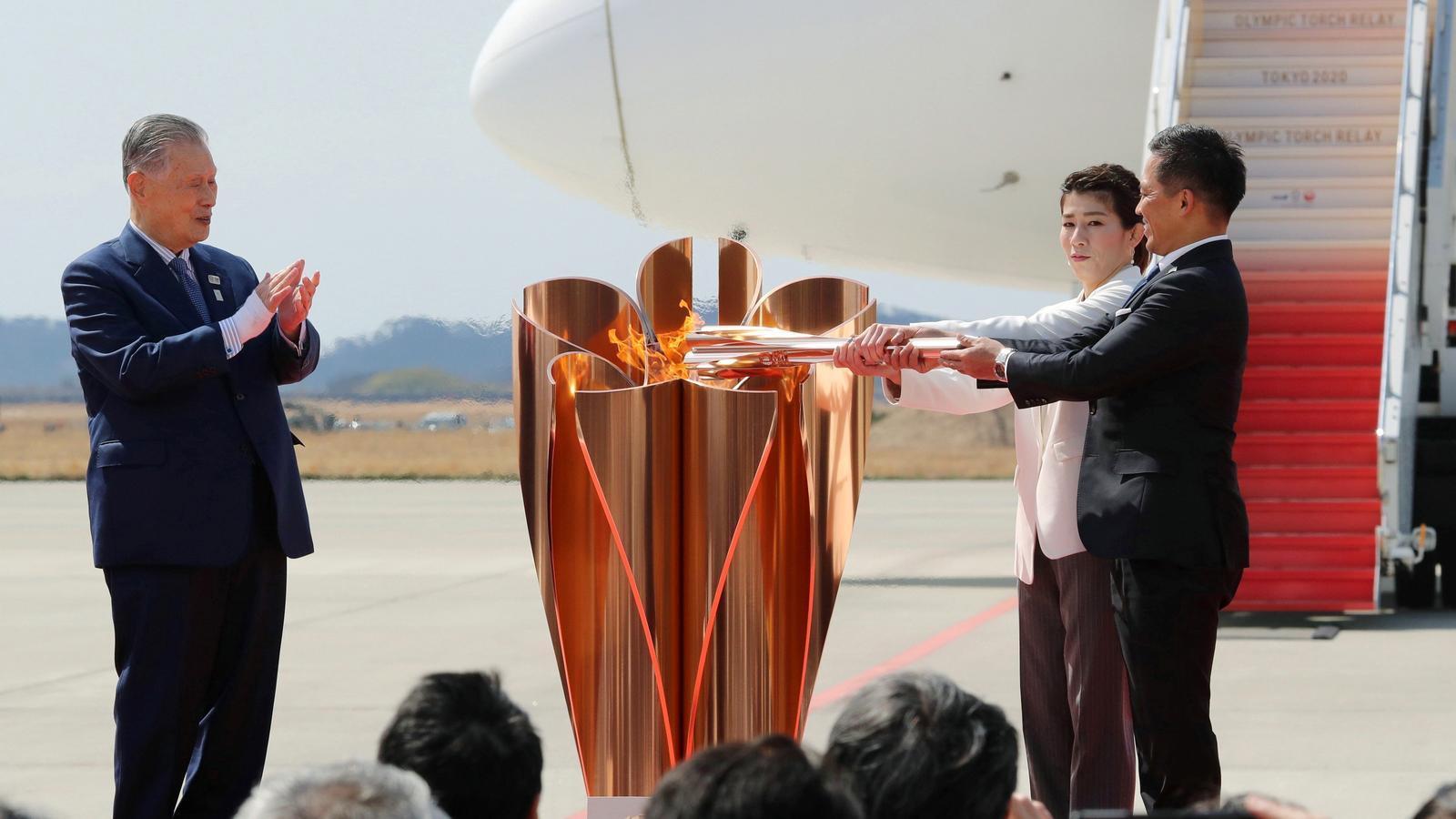 La flama olímpica ja ha arribat al Japó