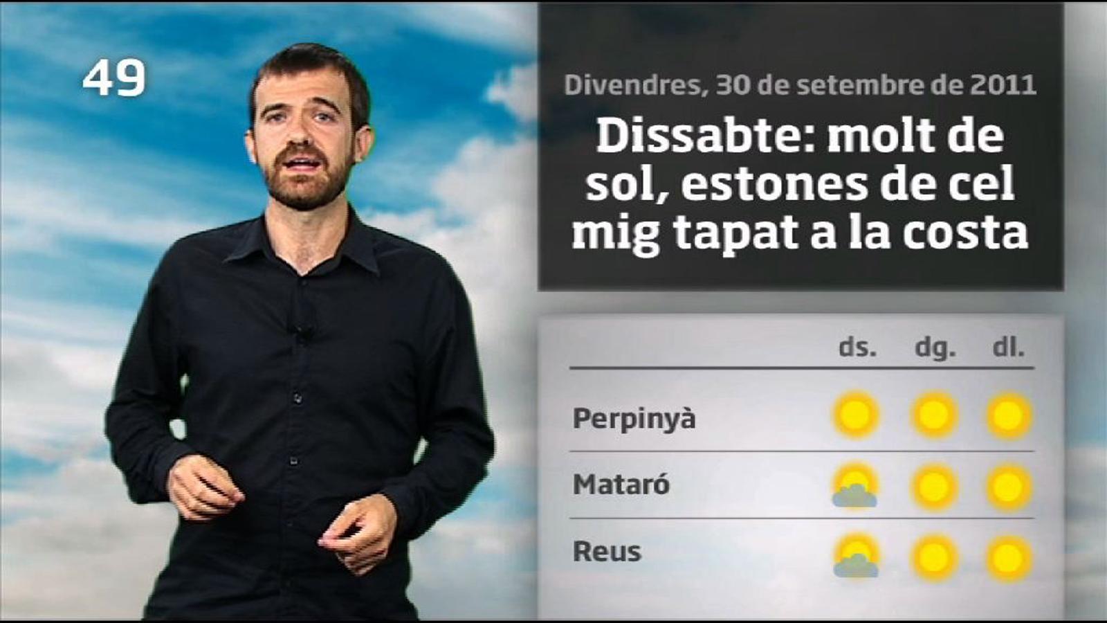 La méteo en 1 minut: temperatures encara una mica més altes (01/10/2011)