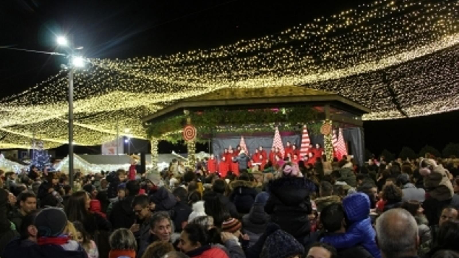 L'encesa de llums a Andorra la Vella, l'any passat. / ARXIU ANA