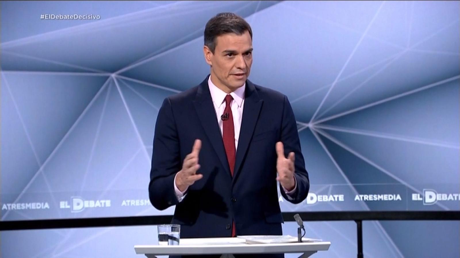 """Sánchez: No està en els meus plans intentar pactar amb un partit que el que ha fet ha sigut posar un cordó sanitari al PSOE"""""""