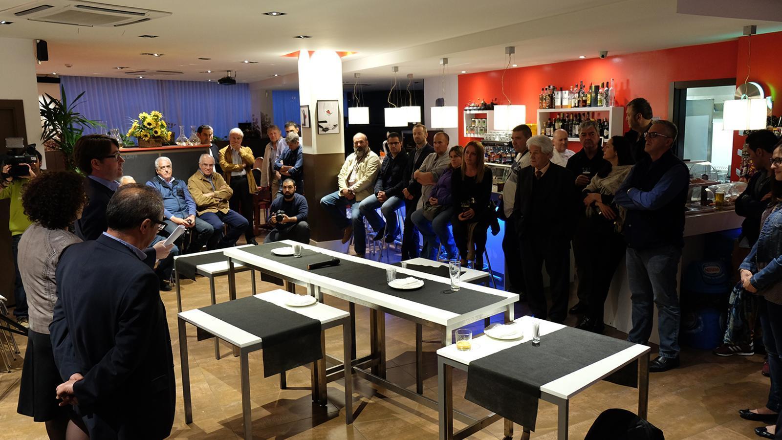 Reunió de poble dels Liberals d'Andorra a la Massan / M.T.