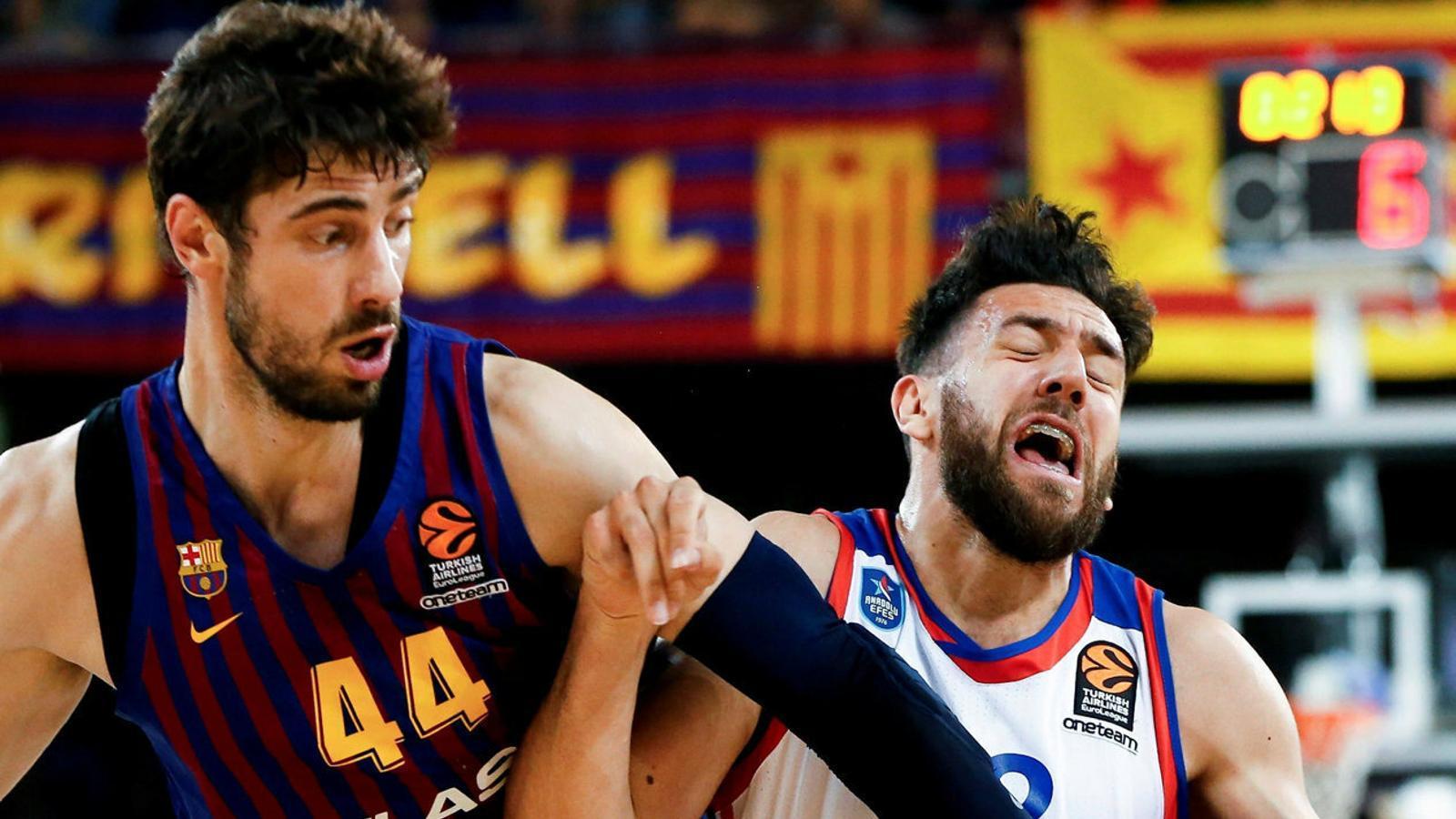 Ante Tomic i Vasilije Micic al Palau Blaugrana.