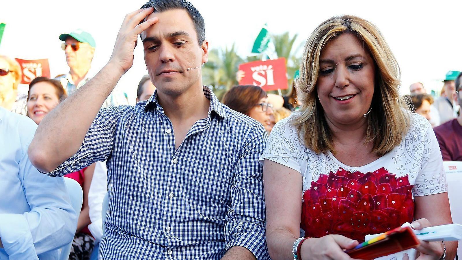 La pugna entre Pedro Sánchez i Susana Díaz és només un dels fronts oberts que té el PSOE en un any en què vol recobrar el paper d'oposició