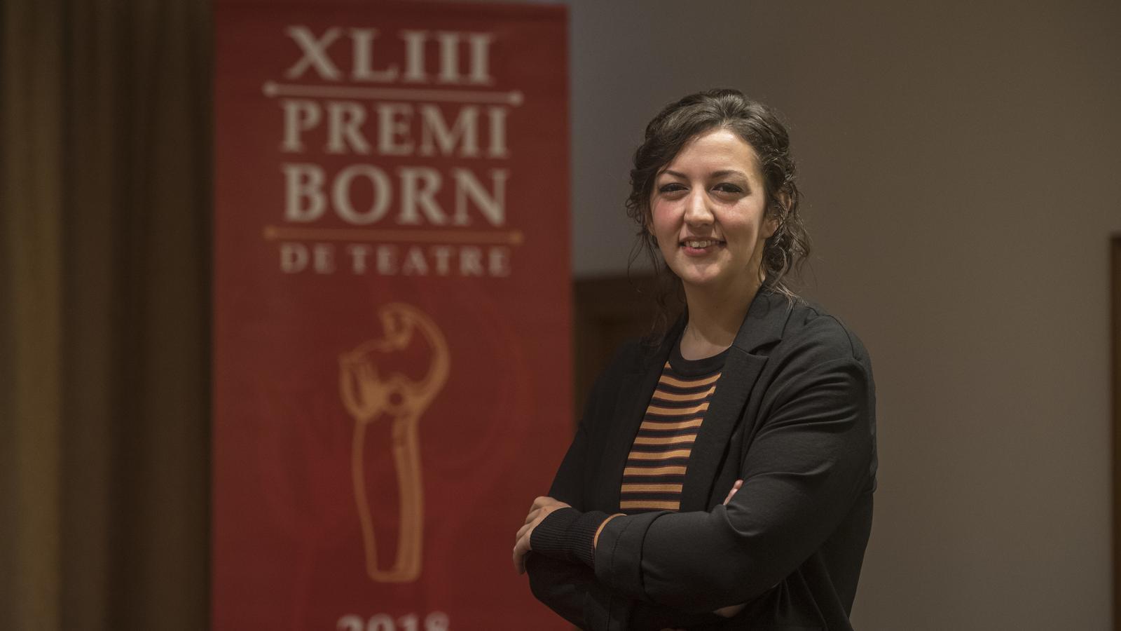 Ruth Gutiérrez Álvarez, guanyadora del Premi Born 2018 de teatre.