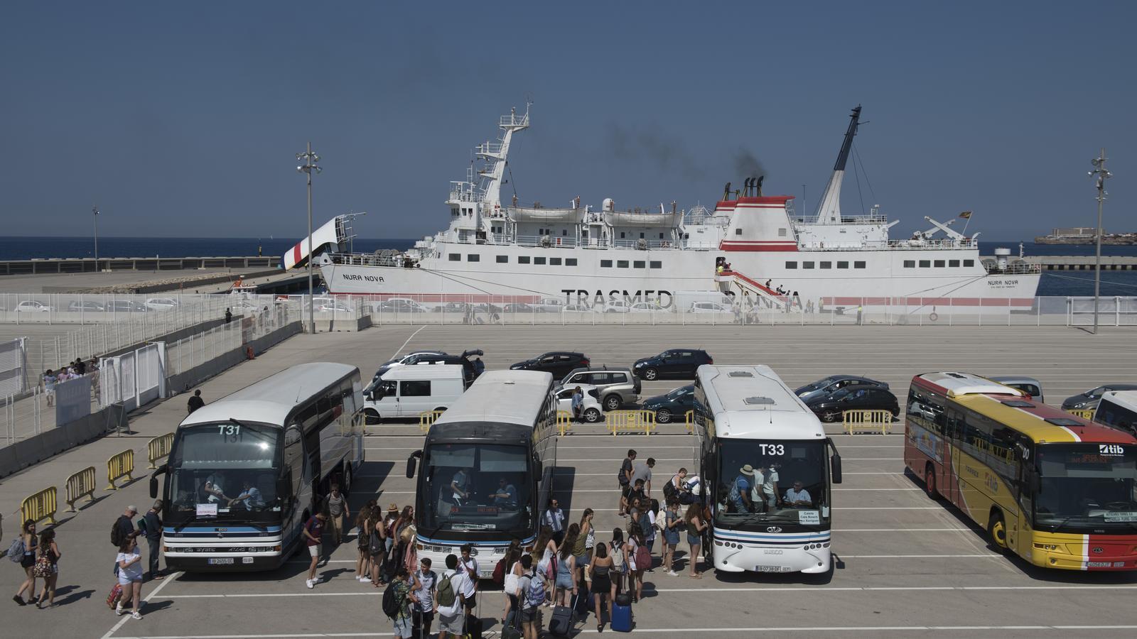 Imatge dels mallorquins que han viatjat a Menorca.