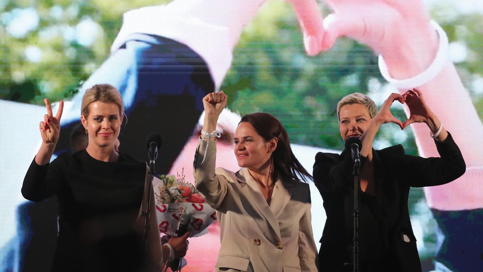 """Veronika Tsapkala : """"Volem que es castigui la gent que ha comès atrocitats a Bielorússia"""""""