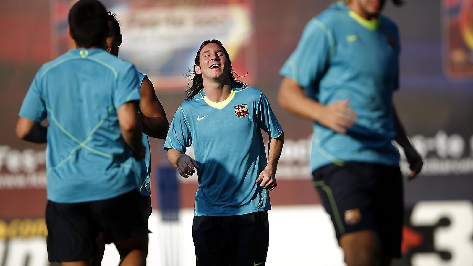 Messi va debutar amb el Barça l'any 2003.