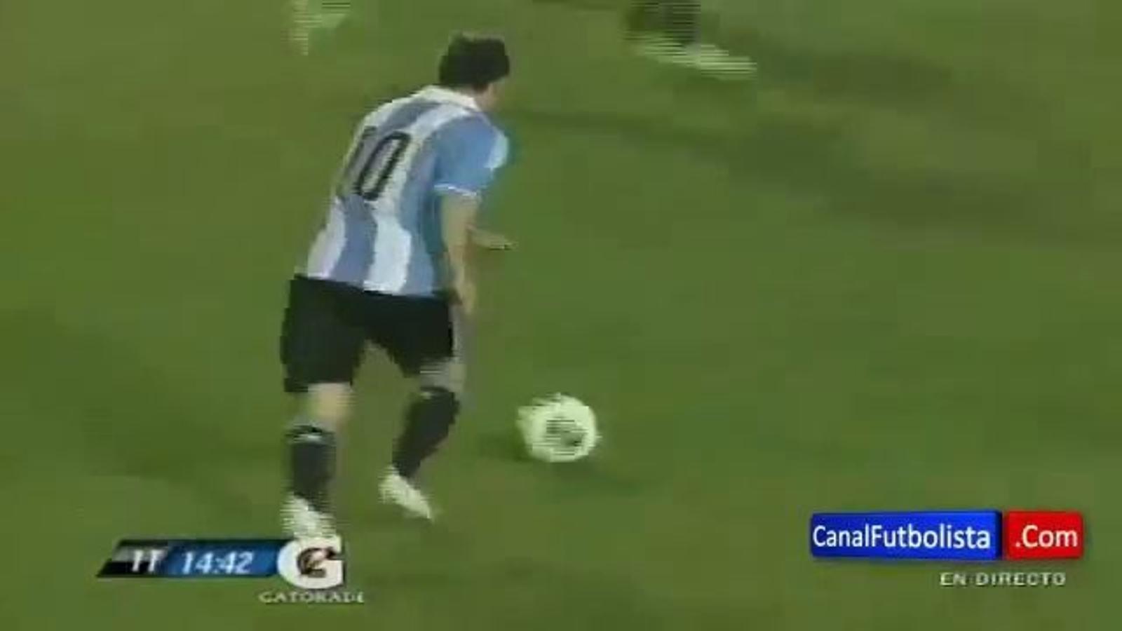 Els tres gols de Messi a Guatemala