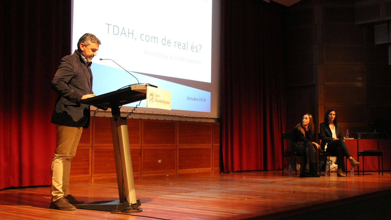 Imatge de la presentació de la jornada sobre TDAH celebrada aquest divendres a Escaldes-Engordany. / M. P. (ANA)
