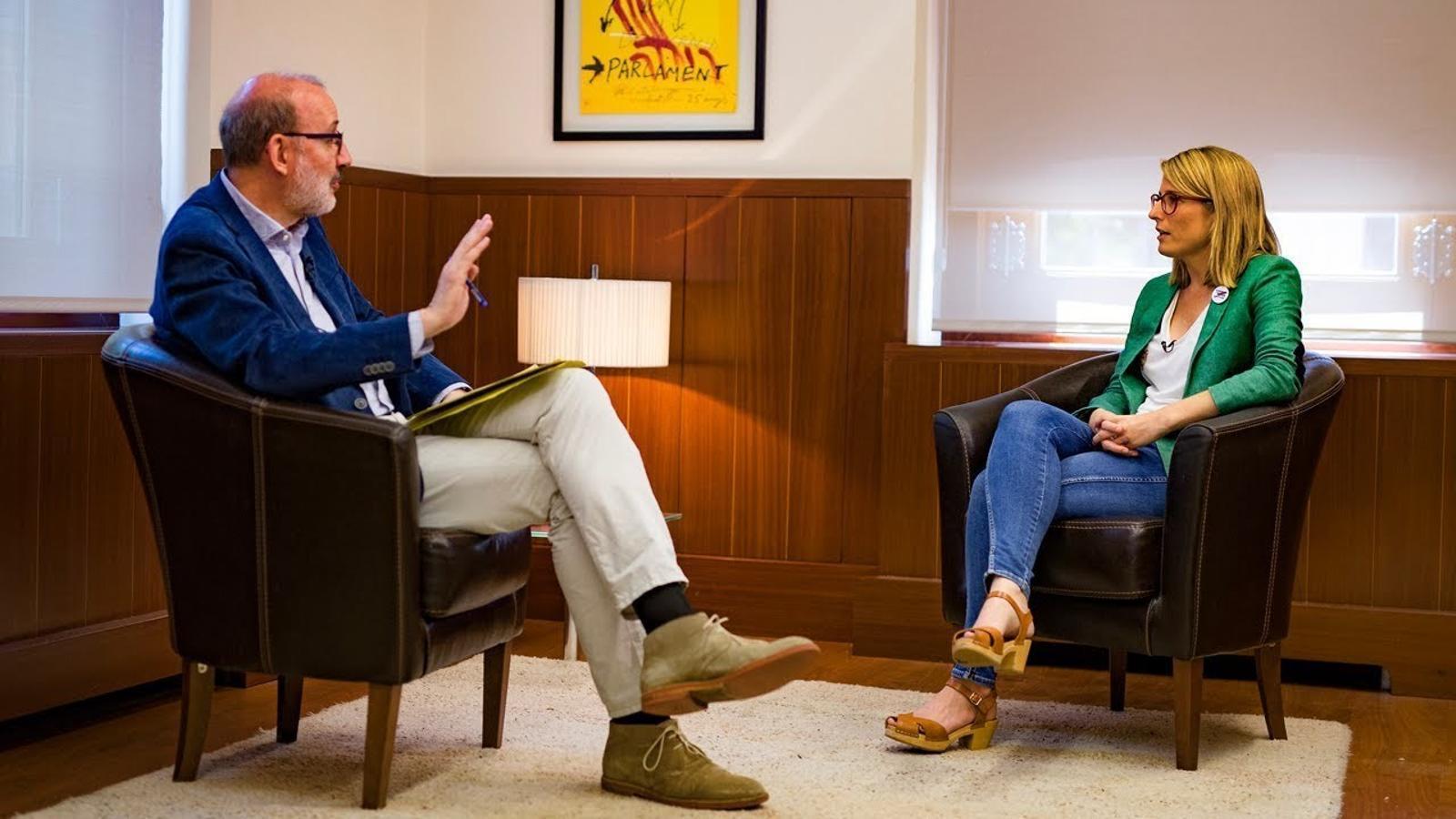 Entrevista d'Antoni Bassas a Elsa Artadi