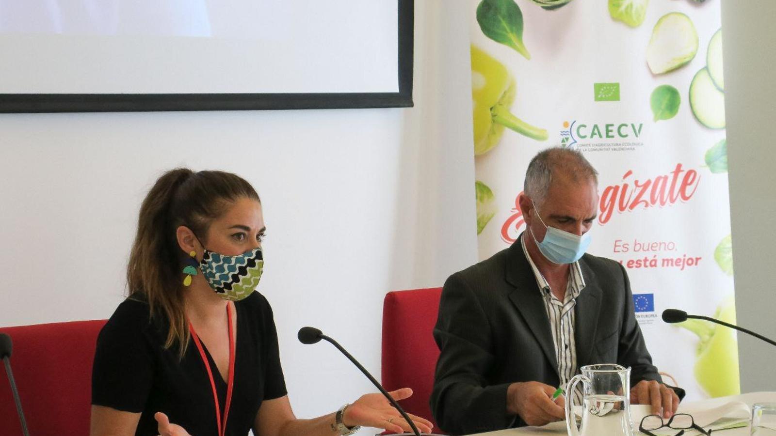 La conselleria d'Agricultura, Desenvolupament Rural, Emergència Climàtica i Transició Ecològica, Mirella Mollà, en la presentació de l'últim informe sobre la implantació de l'agricultura ecològica al País Valencià