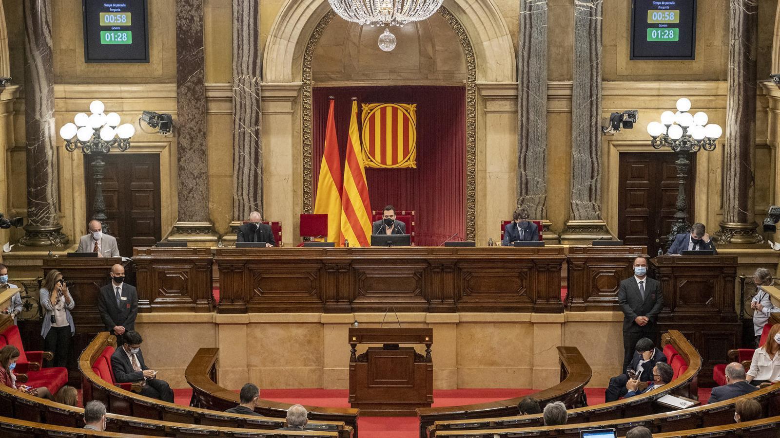Sessió plenària del Parlament posterior a la inhabilitació del president Torra.
