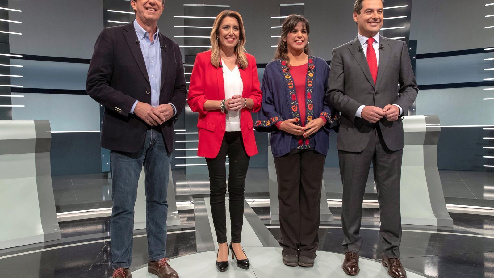Cs i el PP escalfen la batalla de la dreta i donen oxigen a Díaz en el debat