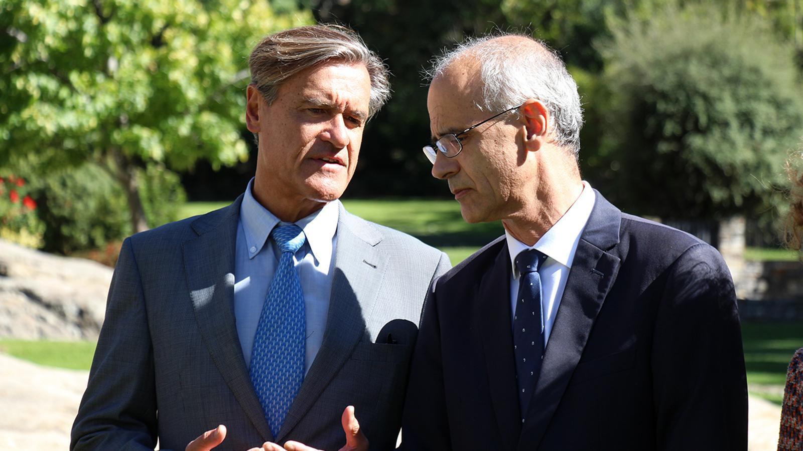 Juan Fernando López Aguilar i Toni Martí, aquest dijous. / M. M. (ANA)