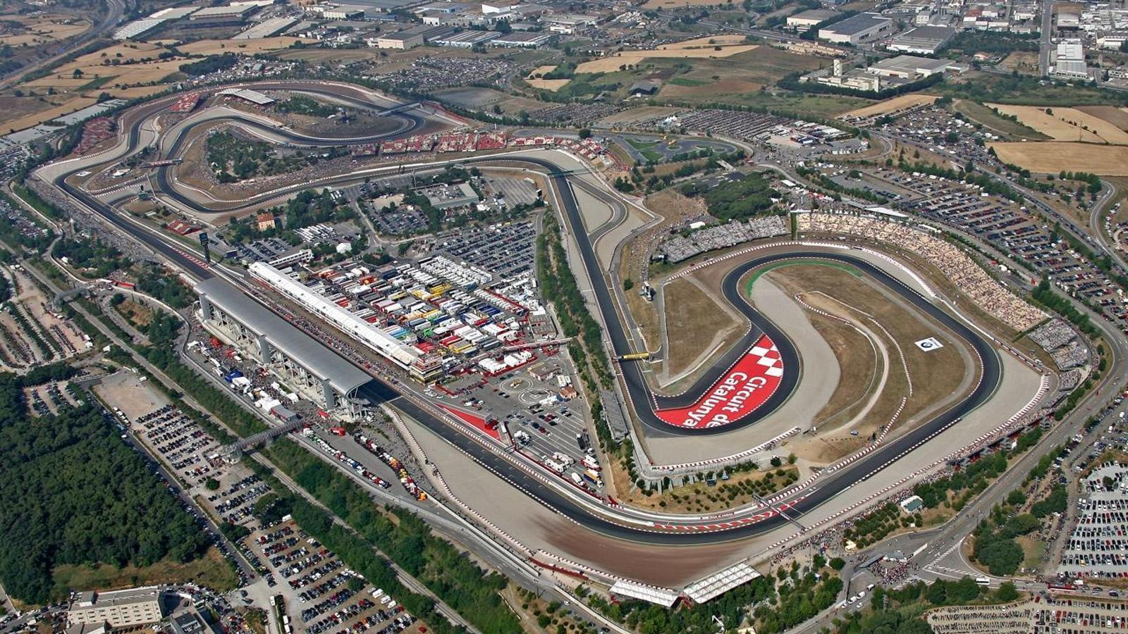 Imatge aèria del circuit de Montmeló