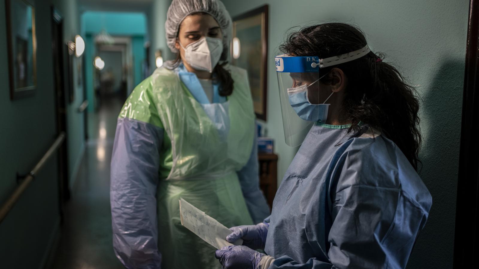 L'equip de MSF es reuneix amb els responsables de la Residència La nostra Senyora de les Mercedes de El Royo (Soria)