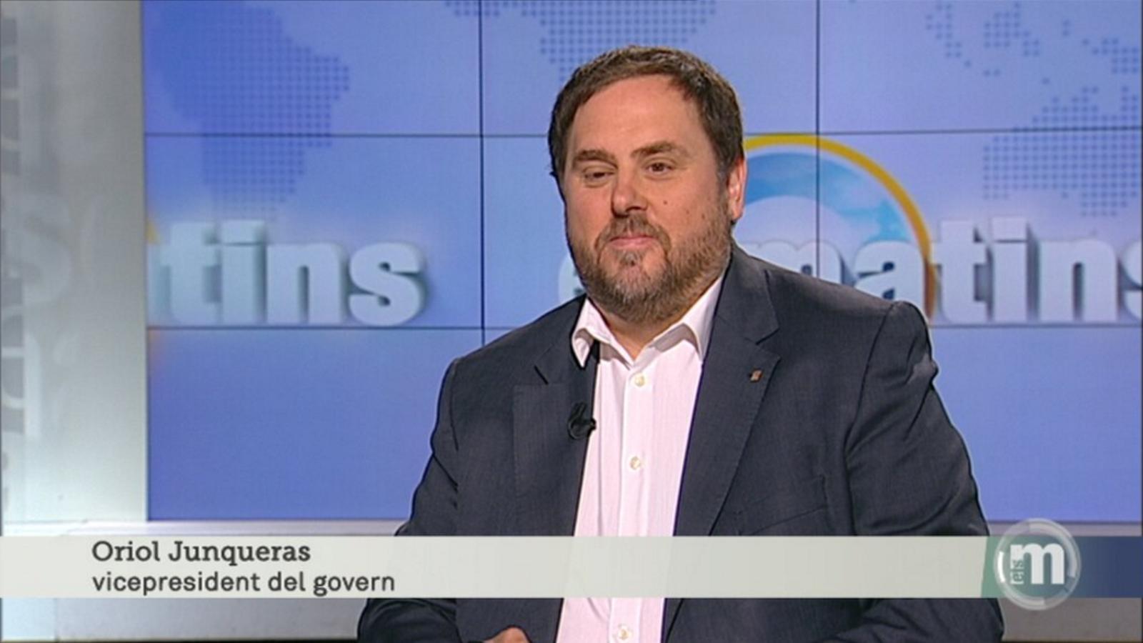 Oriol Junqueras en una entrevista a TV3