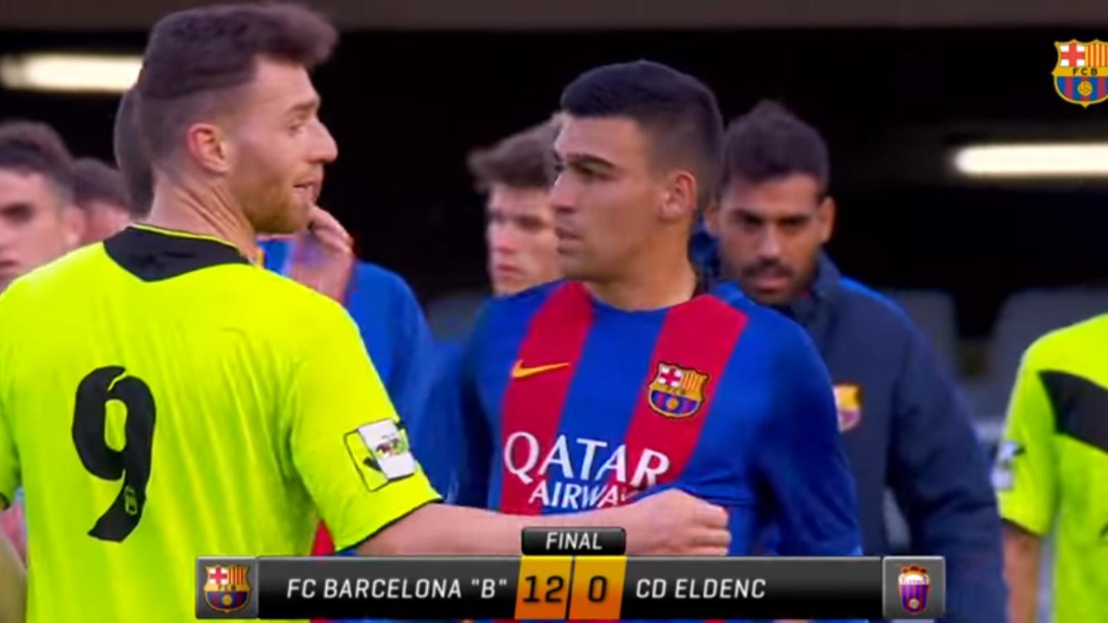 El resum del Barça B 12 - Eldenc 0