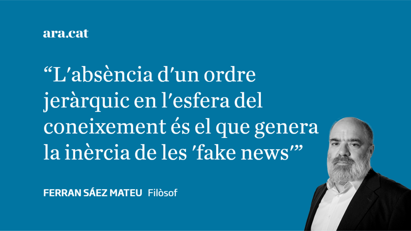 'Fake news': no és tan senzill