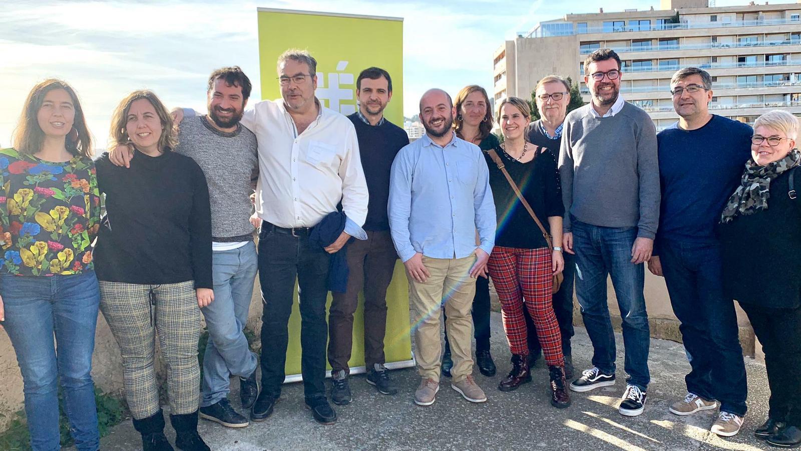 Miquel Àngel Contreras, coordinador de MÉS per Palma i el seu nou equip