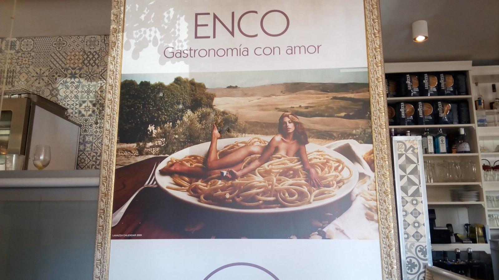 El cartell del restaurant.