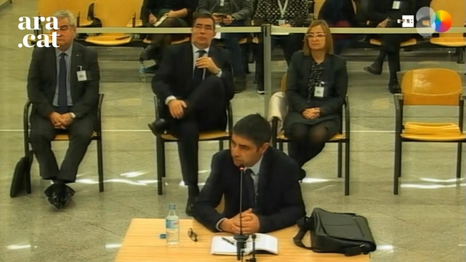 """Trapero: """"Provoca tristesa estar imputat per sedició havent fet la feina el millor que vaig poder"""""""