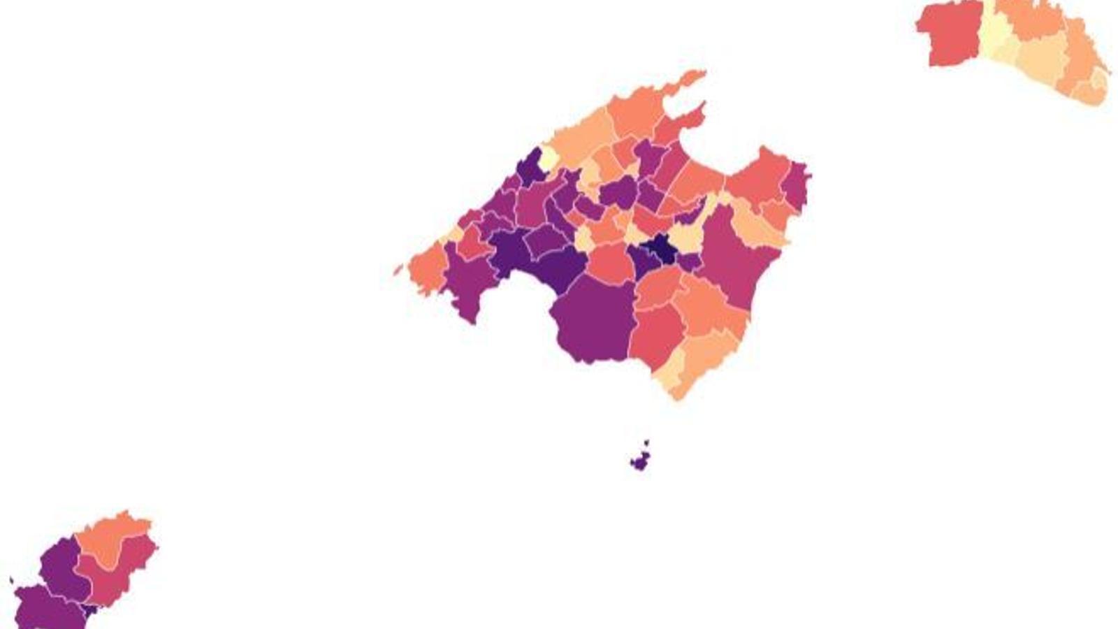 Els contagis de coronavirus augmenten a la majoria de zones bàsiques de les Balears