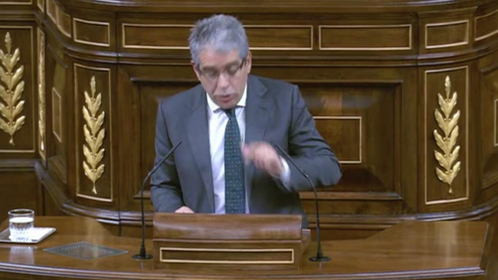 Homs en la sessió al Congrés en què s'investeix Rajoy president