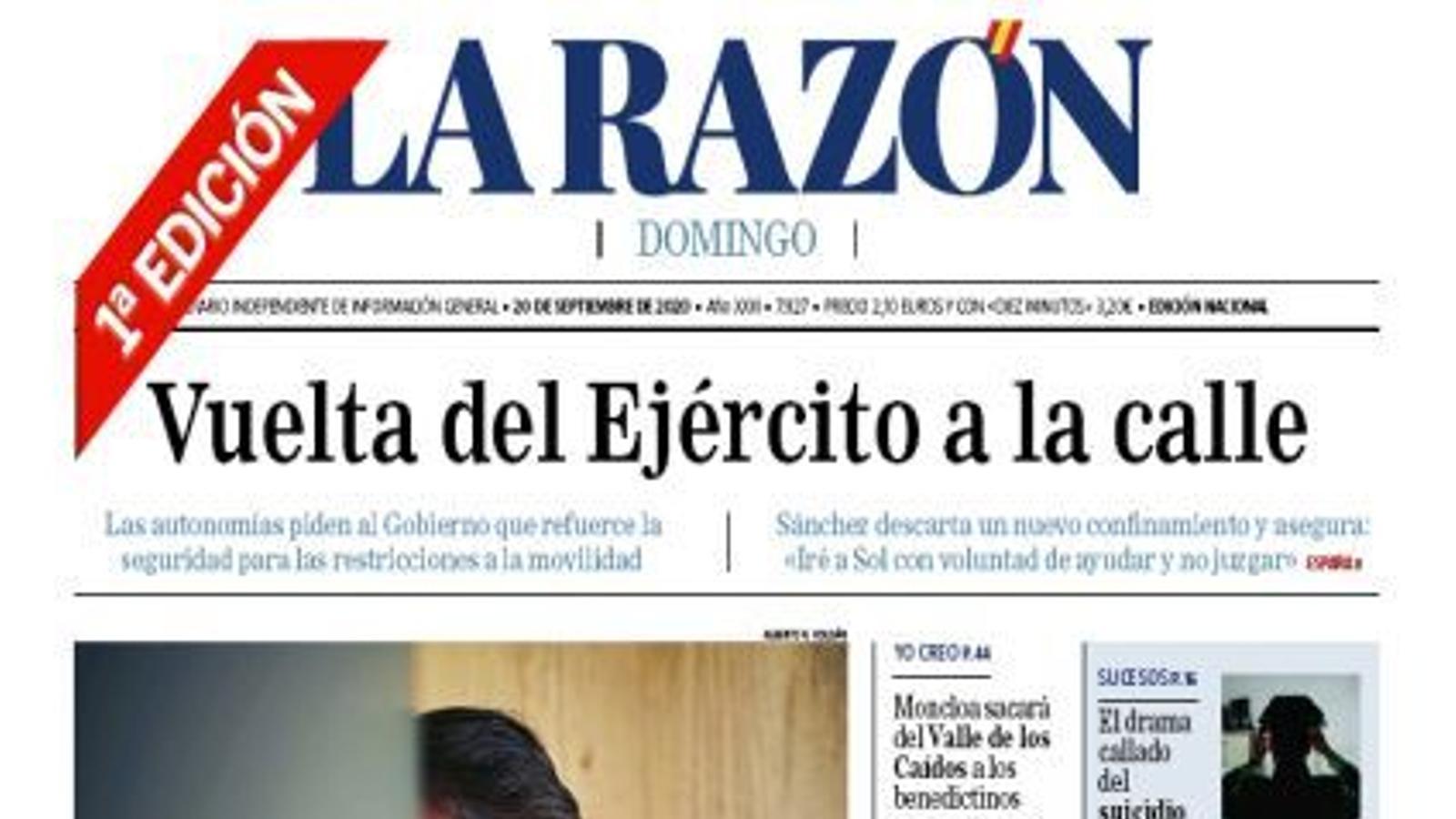 20/9/2020 La Razón