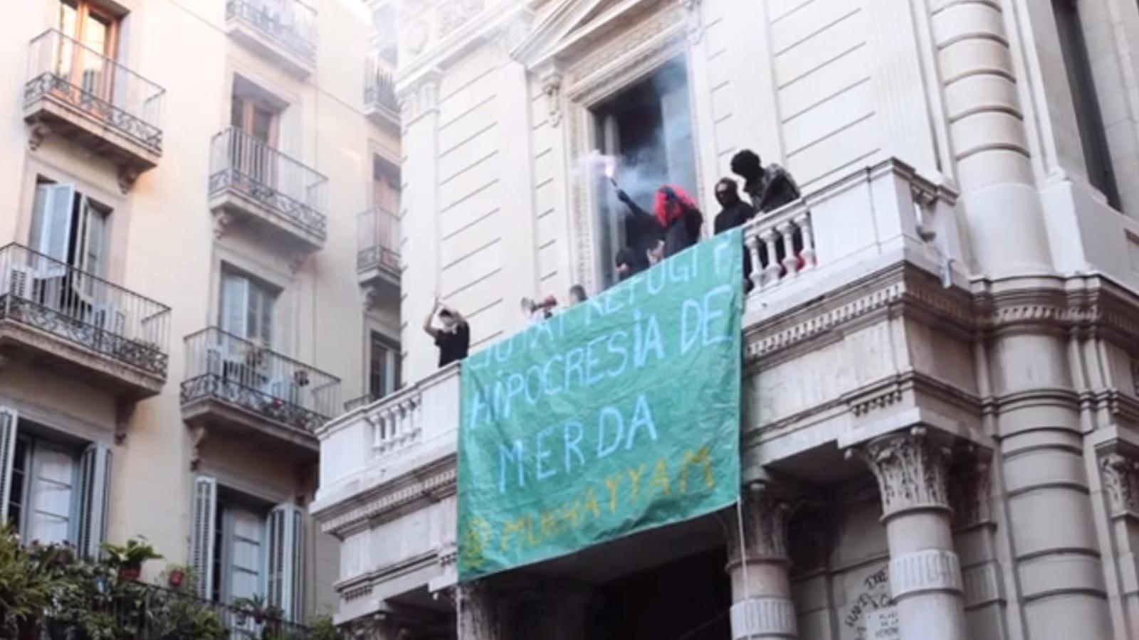 Vídeo sobre l'ocupació de l'edifici del Borsí de Barcelona