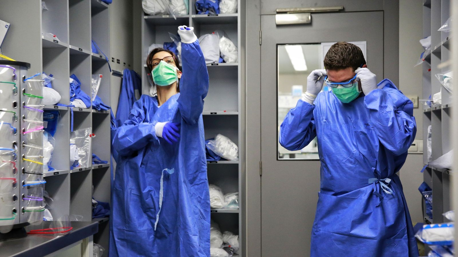 Organització hospitalària pel coronavirus a l'Hospital Germans Trias i Pujol