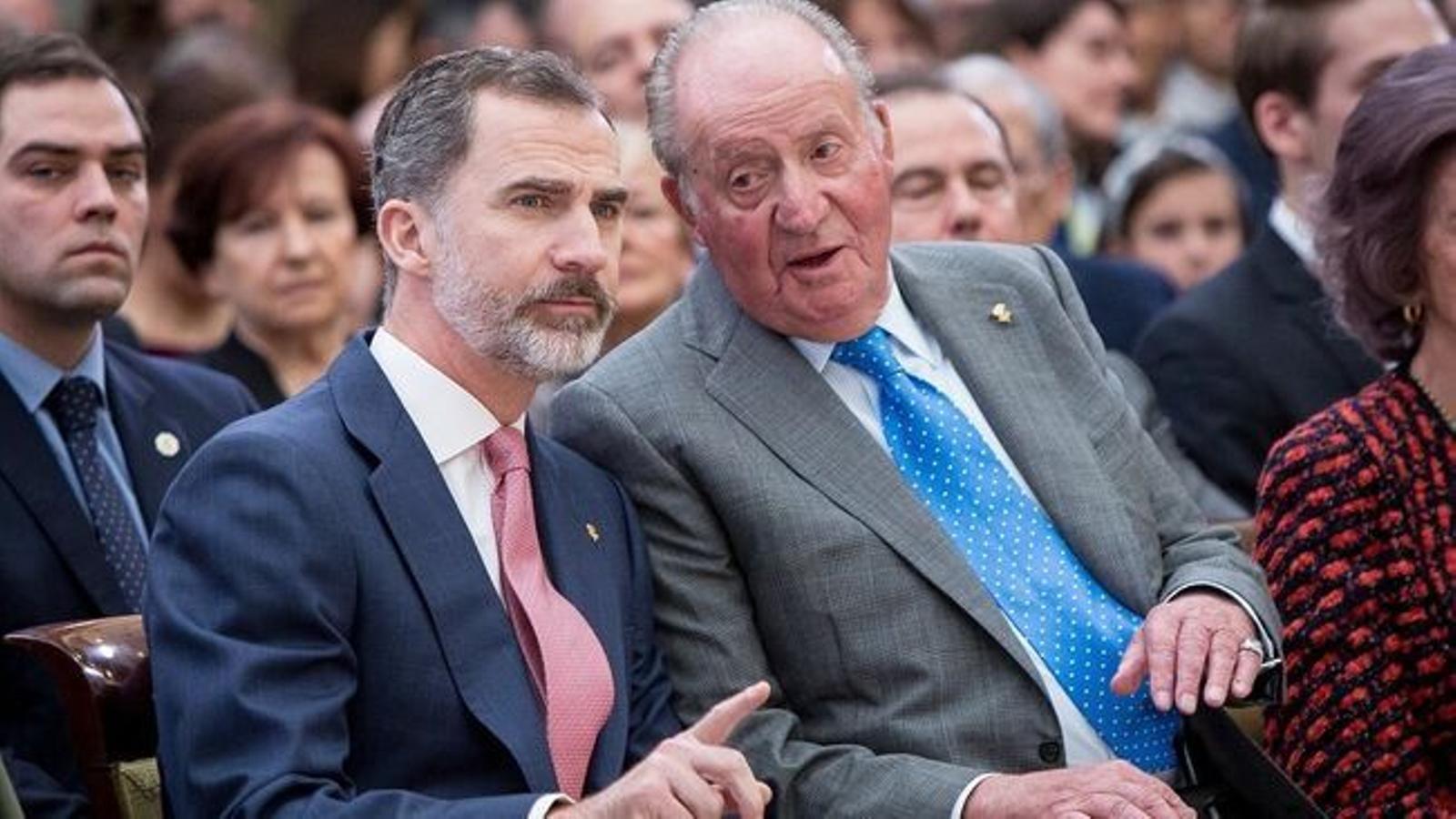 Felip VI i el rei emèrit, Joan Carles I. / PABLO CUADRA/ GETTY
